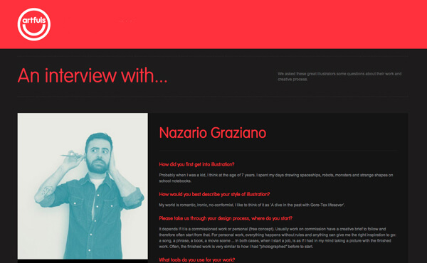 Nazario Graziano - Interview for Artfuls